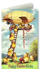 Example of easter greeting card