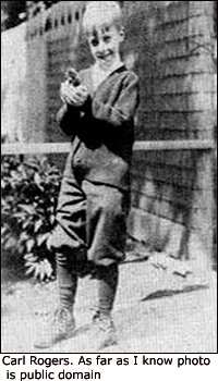 Old photo of Carl Ransom Rogers as a child.