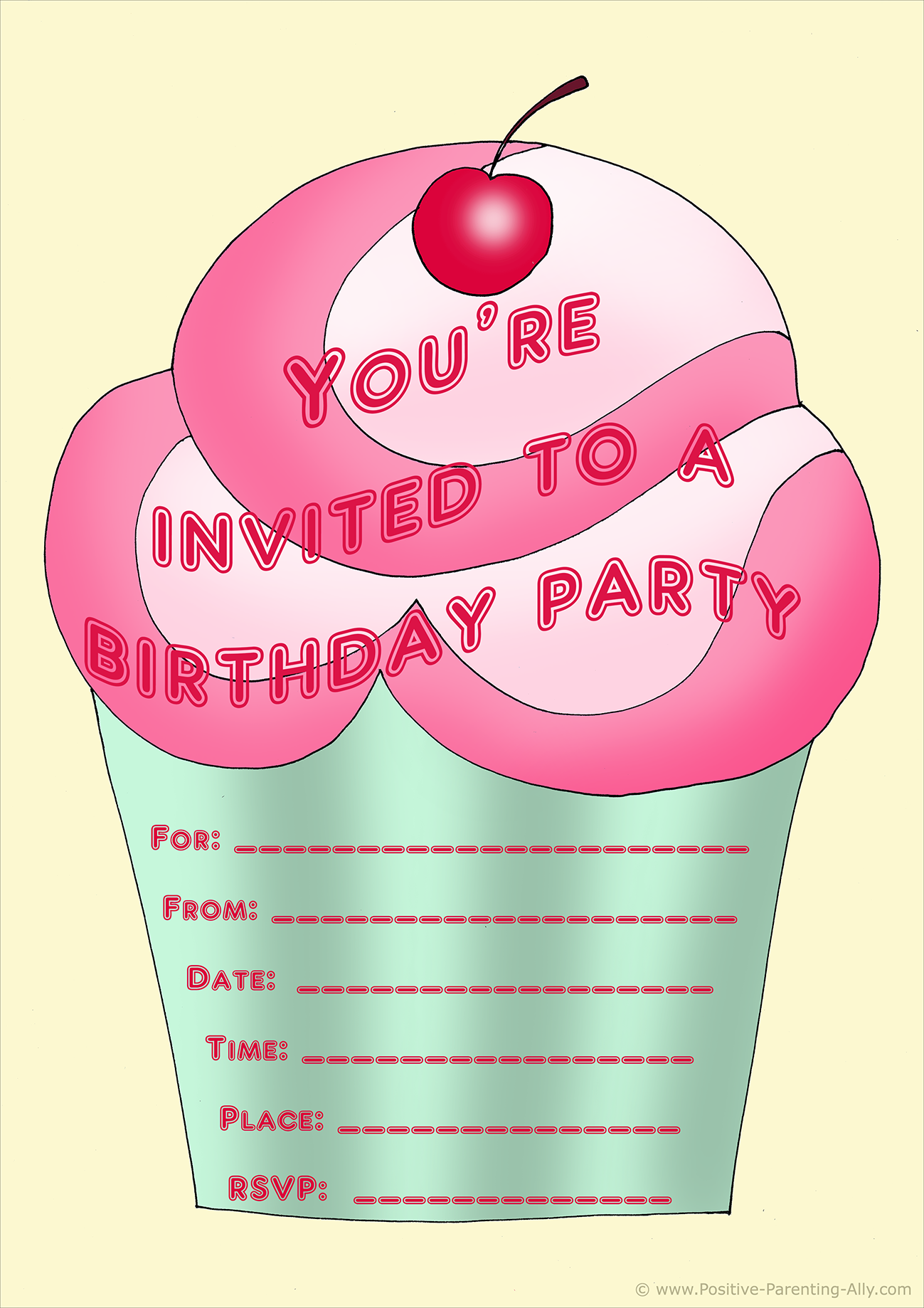 free birthday party invites for kids in high print quality
