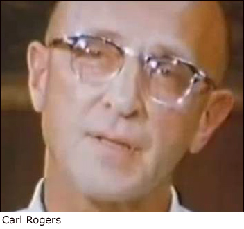 Close-up photo of a young Carl Rogers