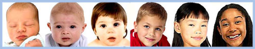 6 children at different ages.