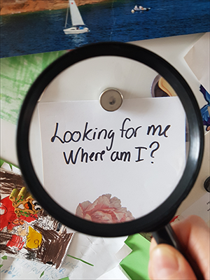 Searching for myself without realizing it.
