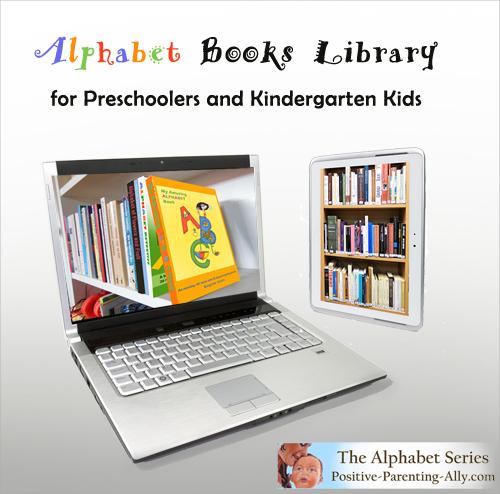 Large alphabet books libraby for preschoolers and kindergarten kids.