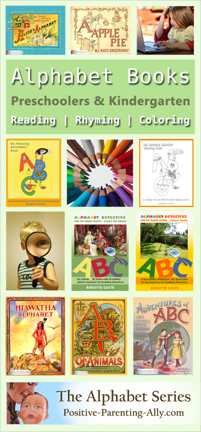 Lots of wonderful, educational alphabet books from Positive Parenting Ally's Alphabet Series.