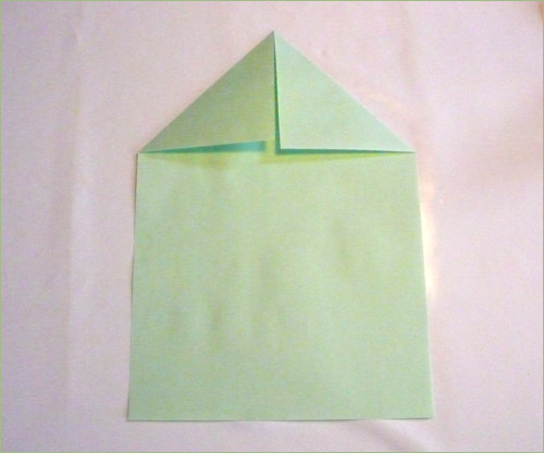 Origami airplane step 1.