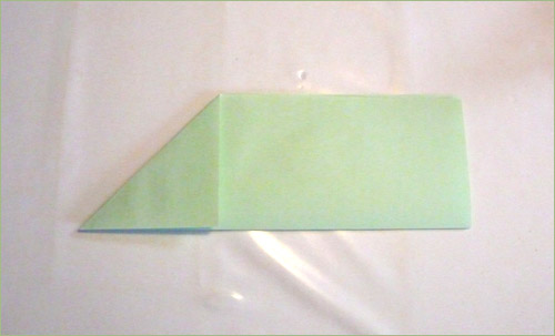 Origami airplane step 3.