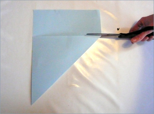 Origami fortune teller step 1 in paper crafts for kids