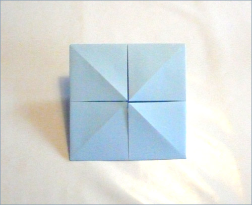 Origami fortune teller step 5.