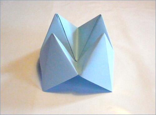 Origami fortune teller step 7.