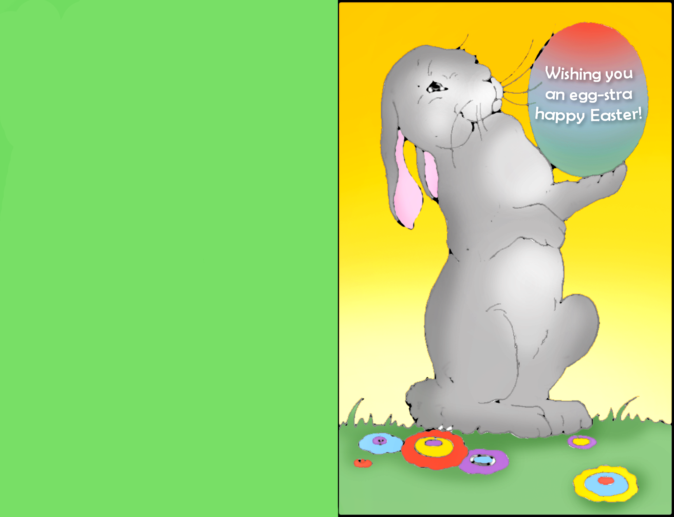 Happy Easter greeting card for kids.
