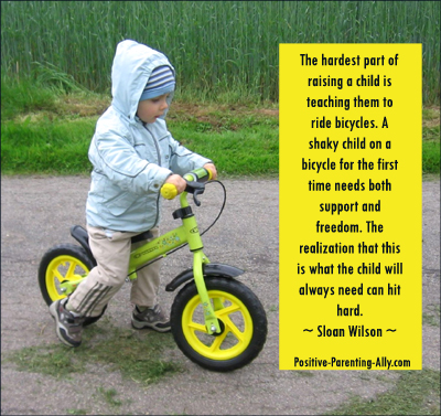 Parenting quote by Sloan Wilson on support and freedom.