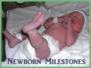 Infant still in hospital right after birth.