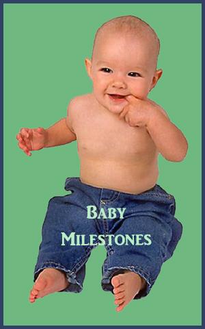 Cute baby boy sitting - new milestone.