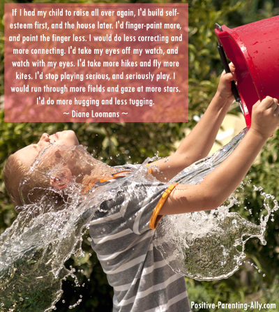 Diane Loomans quote on raising kids all over again.