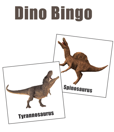 Make your own dino bingo cards as a fun animal game for kids.