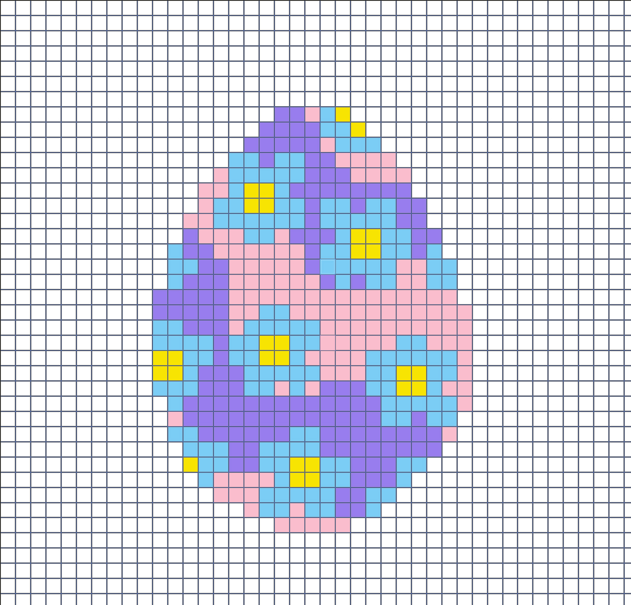 Hama beads template for Easter egg with flowers.