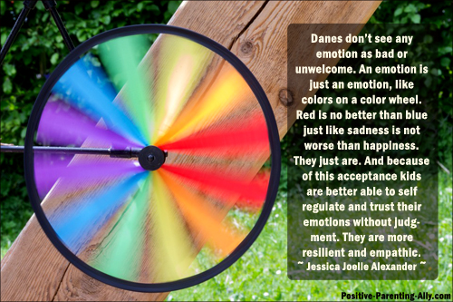 Seeing emotions like colors on a color wheel helps acceptance of all emotions. Picture quote by Jessica Joelle Alexander