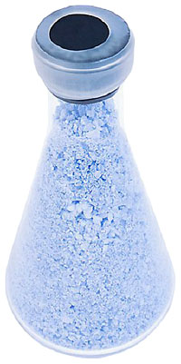 Making blue bath salts is an easy science project for kids.
