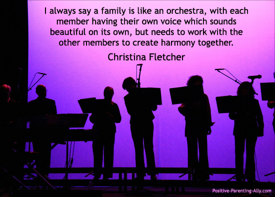Quote by Christina Fletcher: Family is like an orchestra.