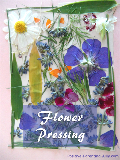 Fun activities for kids: Flower pressing at home.