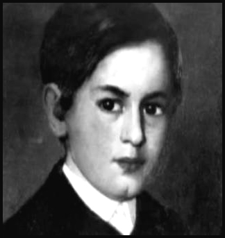 Painting of Freud as a child and young boy.
