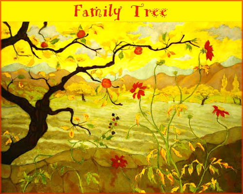 Making family tree templates. A free printable family tree with apples.