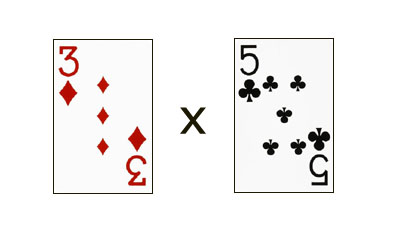 Multiplication math games using cards.