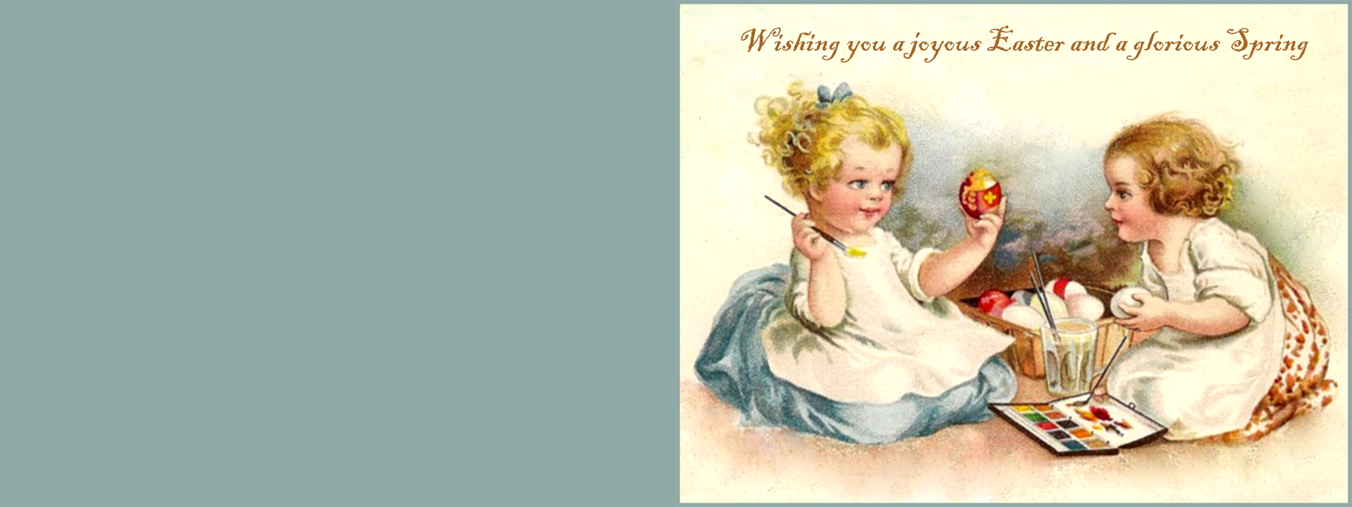 Cute vintage Easter greeting card.