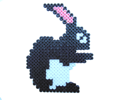 Easy hama beads Easter crafts: Dark Easter bunny.