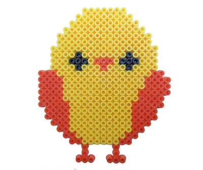 Cute Easter chicken for kids  made in Hama beads.