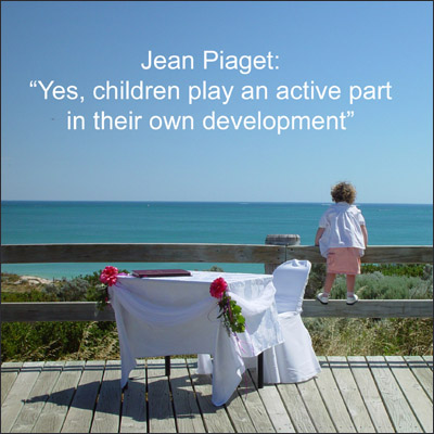 Children are active in their own development: Picture of little child looking out at the sea.