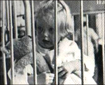 A photo shot from the film A two-year-old-goes to hospital.