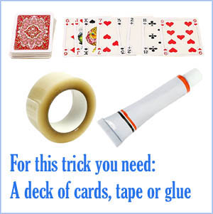 Magic card trick for kid: Magnetic card trick.
