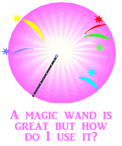 This new development for your toddler is like magic: Drawing of a magic wand.