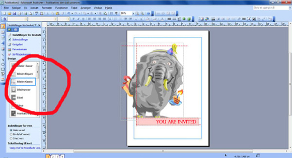 How to make your own birthday invitations in Microsoft Publisher: step four: Find the template you like.