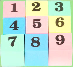 Toy blocks with numbers on can become great counting tools for preschoolers.