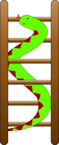 Snakes and ladders can easily be transformed into a fun math game for kids.