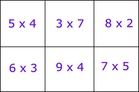 Playing multiplication bingo is a great way to make calculation fun. Exapmle of bingo card