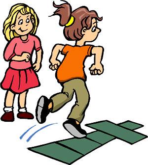 Make a hopscotch math race our of solving multiplication tasks