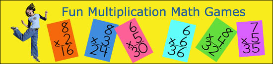 Multiplication math games for kids to make learning times tables fun.
