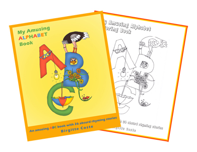 The alphabet book for kids: My Amusing Alphabet Book + Coloring Book by Birgitte Coste, Positive Parenting Ally