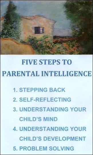 Laurie Hollman's Parental Intelligence Model: 5 steps to behavior problem solving.