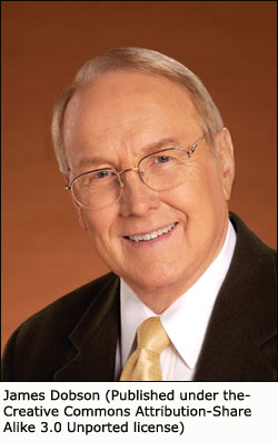 James Dobson portrait: Supporter of strong parental control.