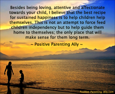Picture quote on guiding children home to themselves.