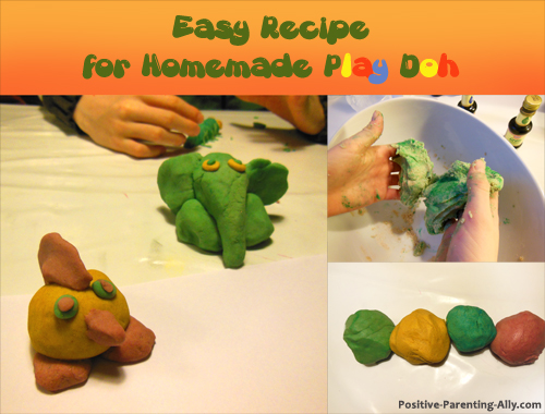 Homemade play doh recipe and ideas for animals to make out of play doh.