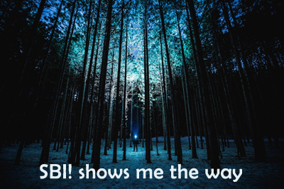 SBI! shows me the way and helps me find the right information and way to do things.