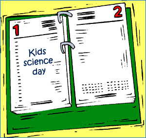 Have a science day once in a while: Calendar with science day.