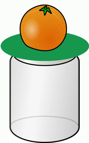 Dropping an orange into a jar: Fun science fair ideas for kids.