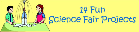 14 fun science fair projects for kids: experiment with water in a bottle and a straw.