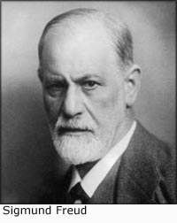 Famous photo of Sigmund Freud